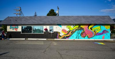 A bright future: New Butte sewing shop sports retro vibe and vibrant outdoor mural