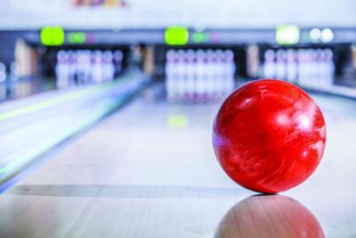 Bowling ball stock photo image