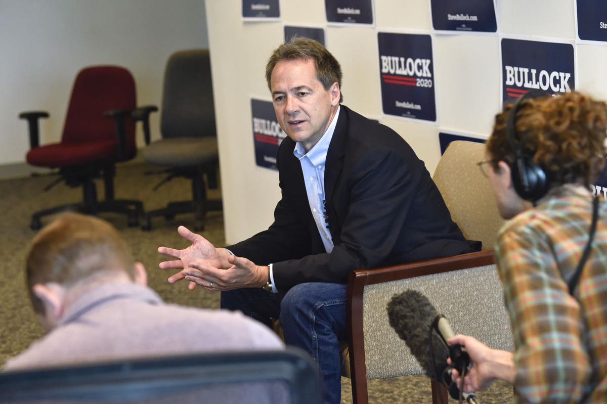 Gov. Steve Bullock, Democratic presidential candidate, holds a roundtable discussion