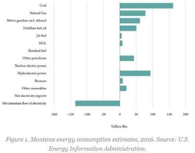 Energy consumption estimates in Montana