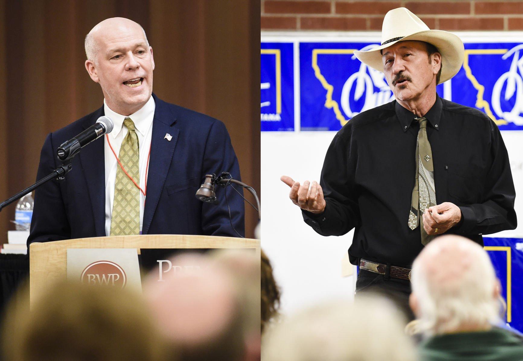 Montana congressional candidates Greg Gianforte R and