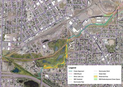 Proposed restored Upper Silver Bow Creek alignment