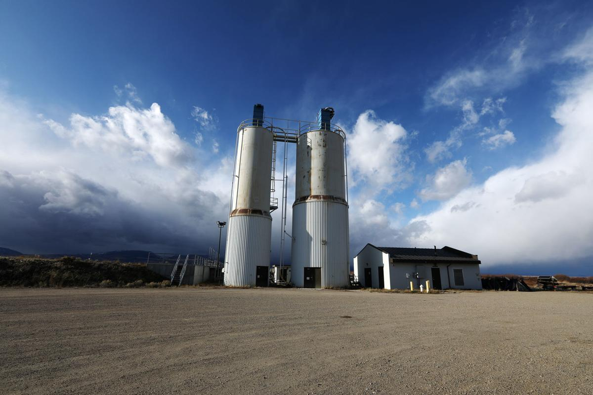 Lime silos at Warm Springs Ponds