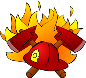 Firefighter icon fire