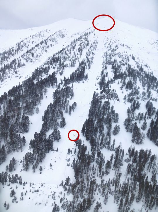 Saddle Peak avalanche path