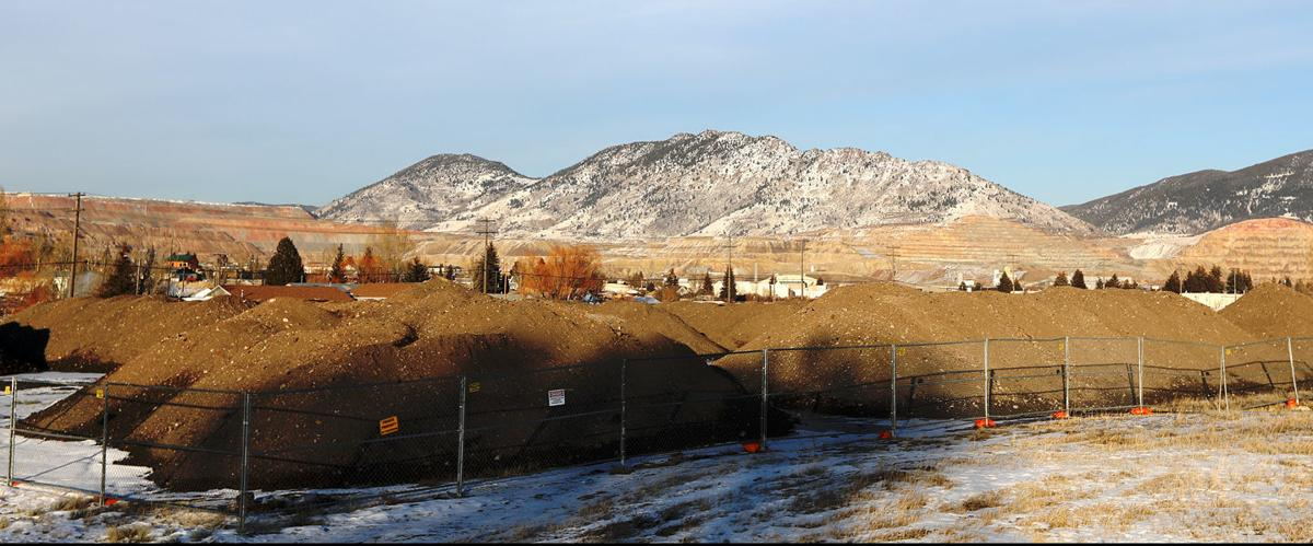 Clean dirt piles just off Kaw Avenue in Butte