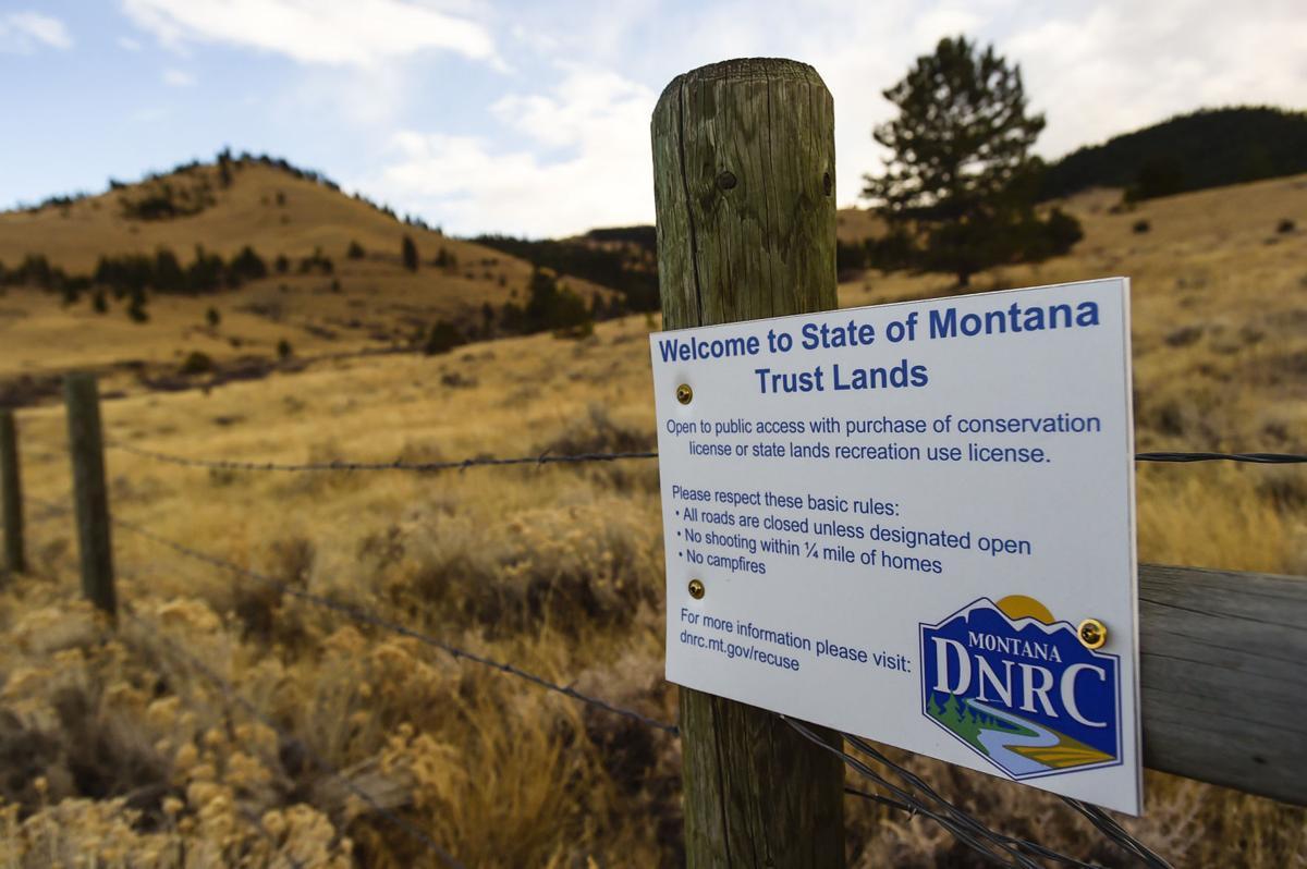 State of Montana Trust Land outside Helena.