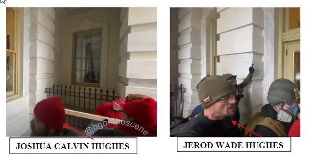 Joshua Calvin Hughes, Jerod Wade Hughes charging document