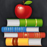 Education icon books apple teacher school