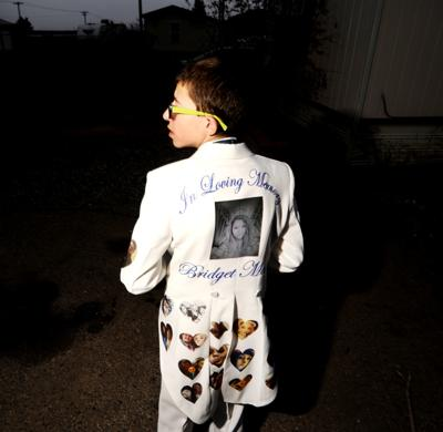 Butte teen's memory is honored with a suit covered in photographs