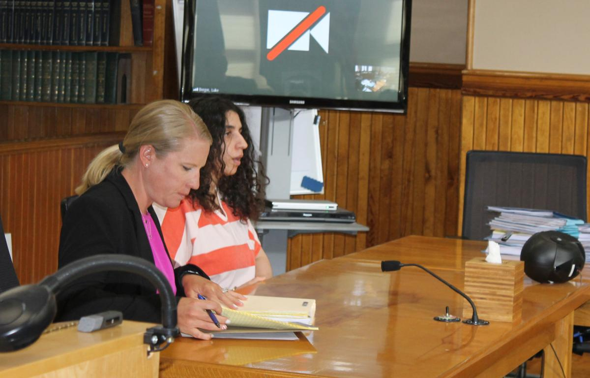 Christina VanDuinen in court