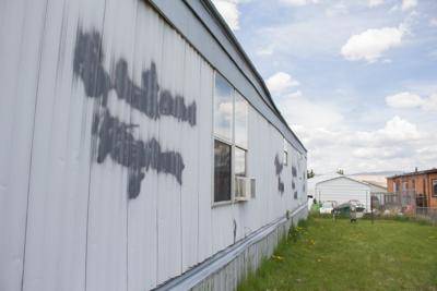 Racial slurs spray painted on the side of Butte home on Friday night