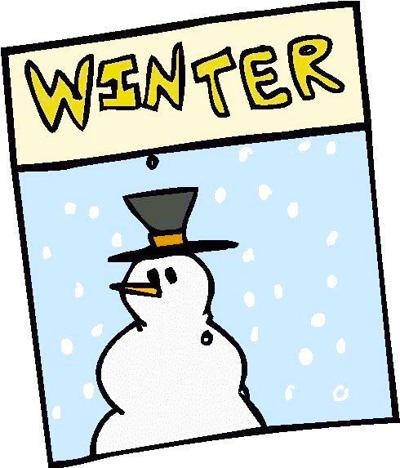 Winter with snowman
