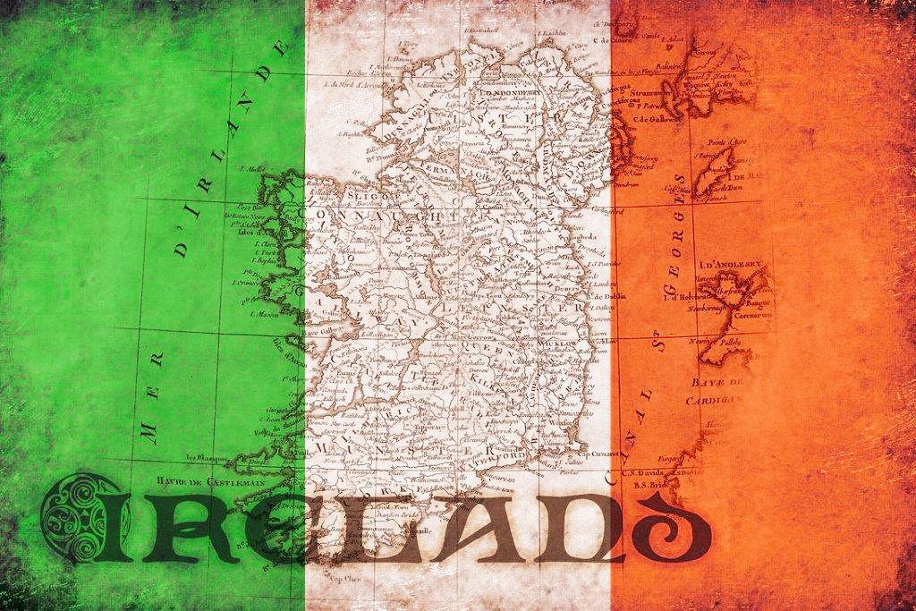 Map of Ireland artwork