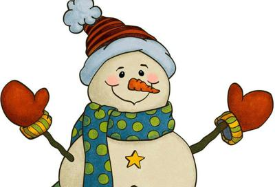 Snowman with gloves