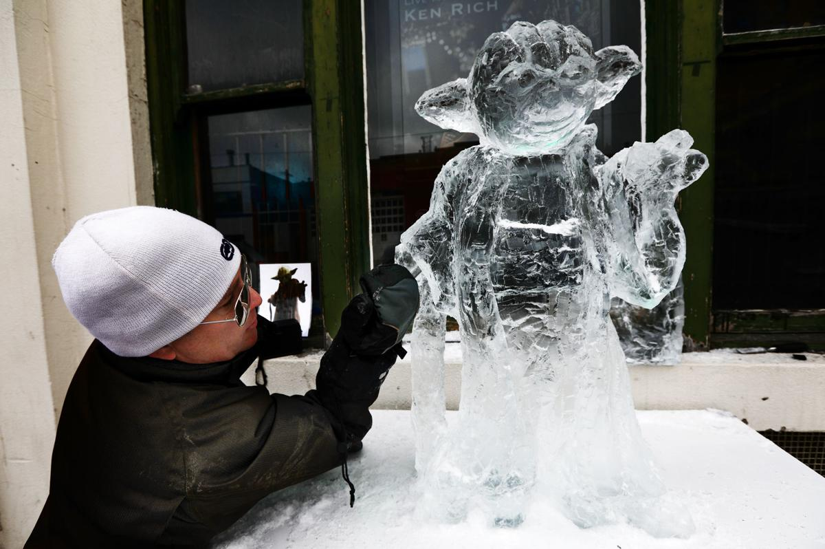 Butte ice sculptors take to the streets