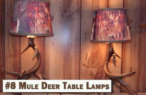 8 Mule Deer Table Lamps.JPG