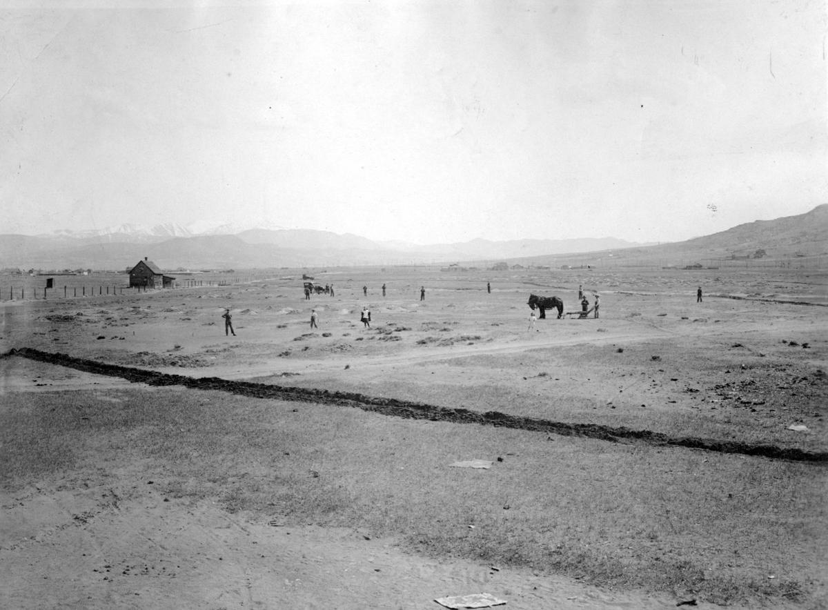 View of the new city park June 1920