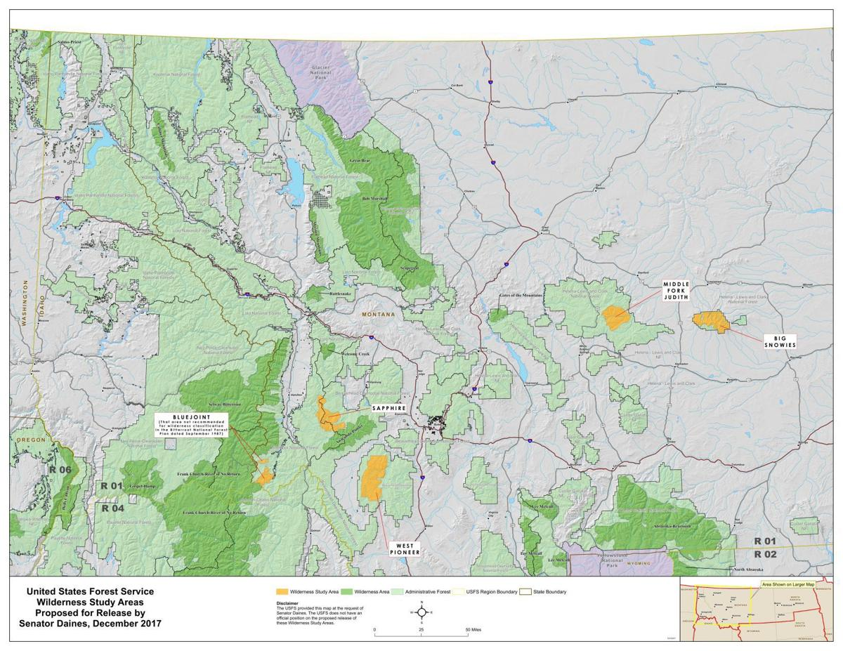 Daines WSA release map