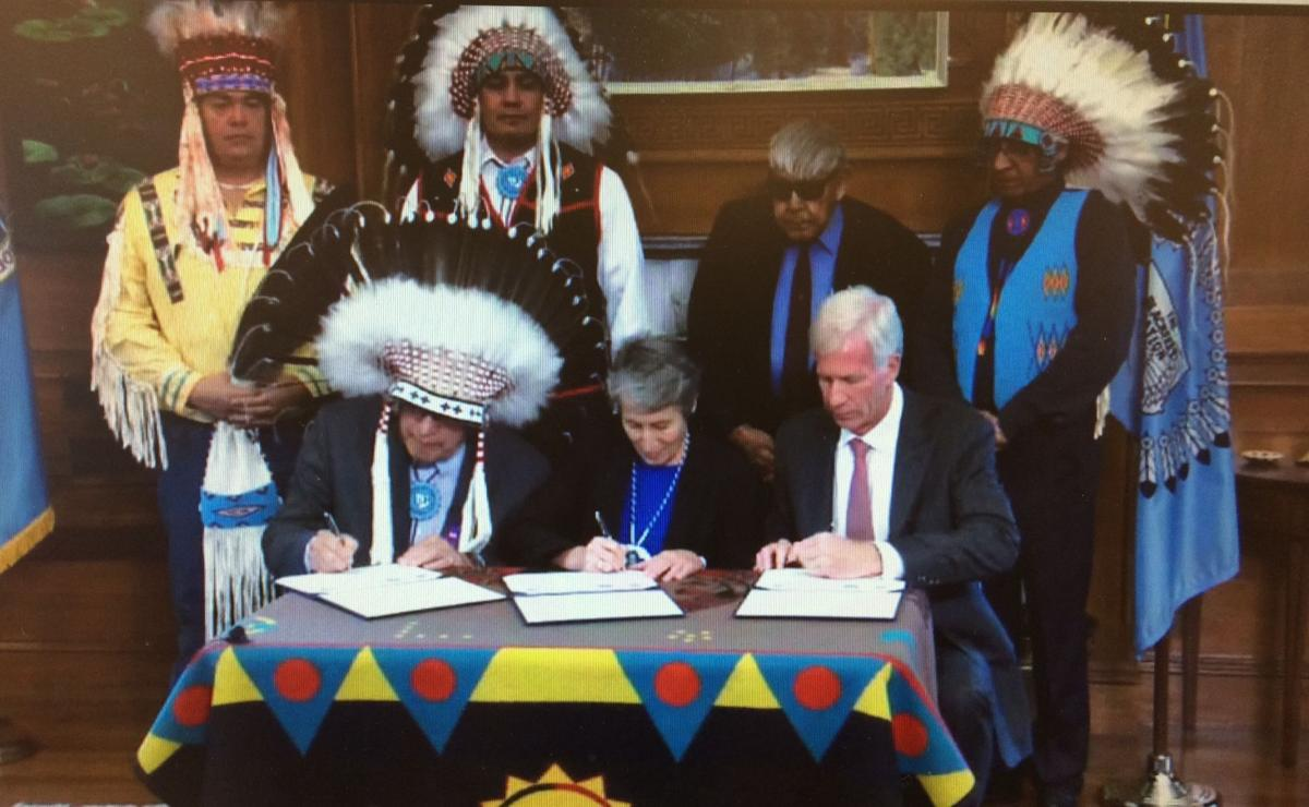 Blackfeet Badger-Two Medicine signing