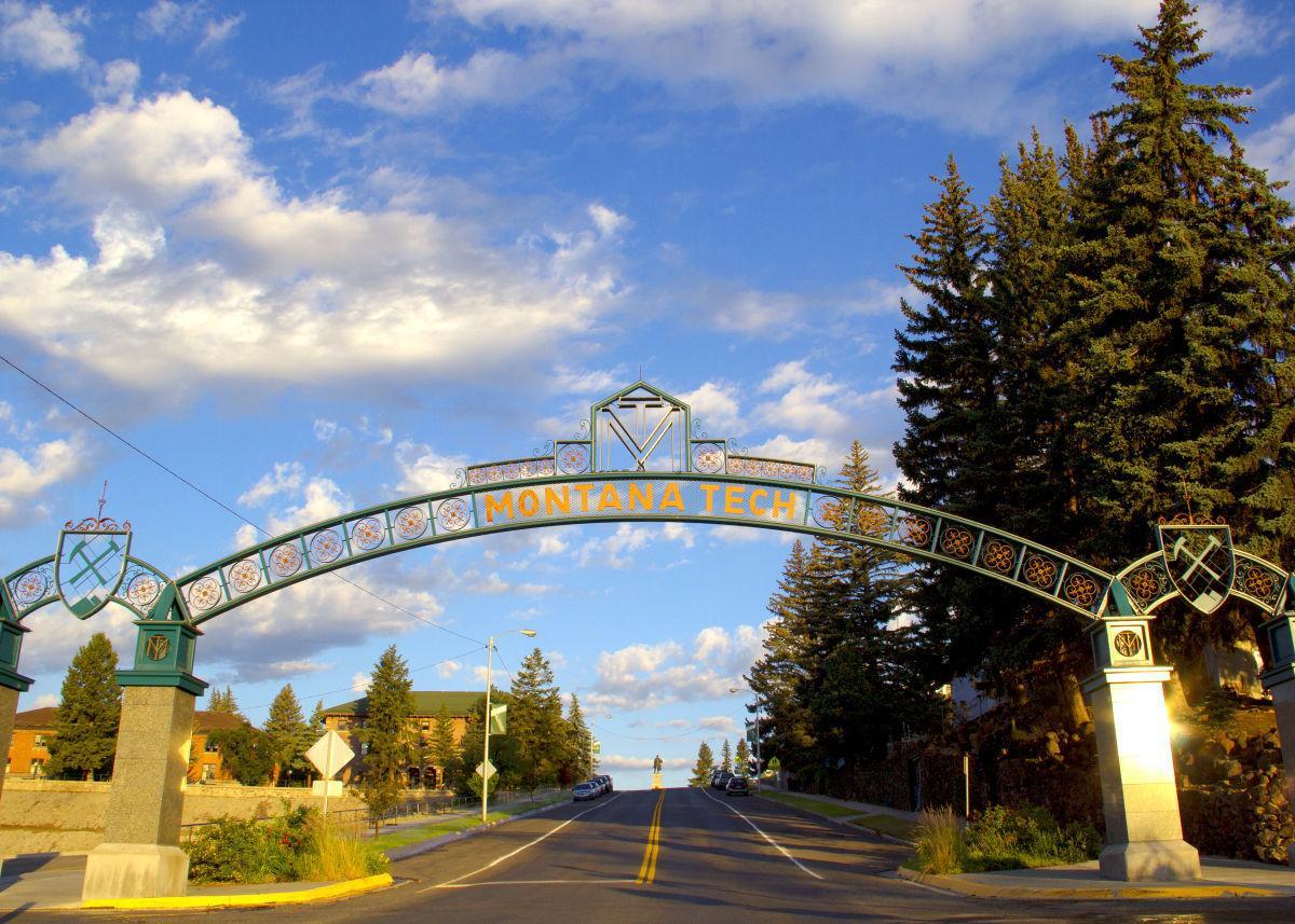 Montana Tech arch