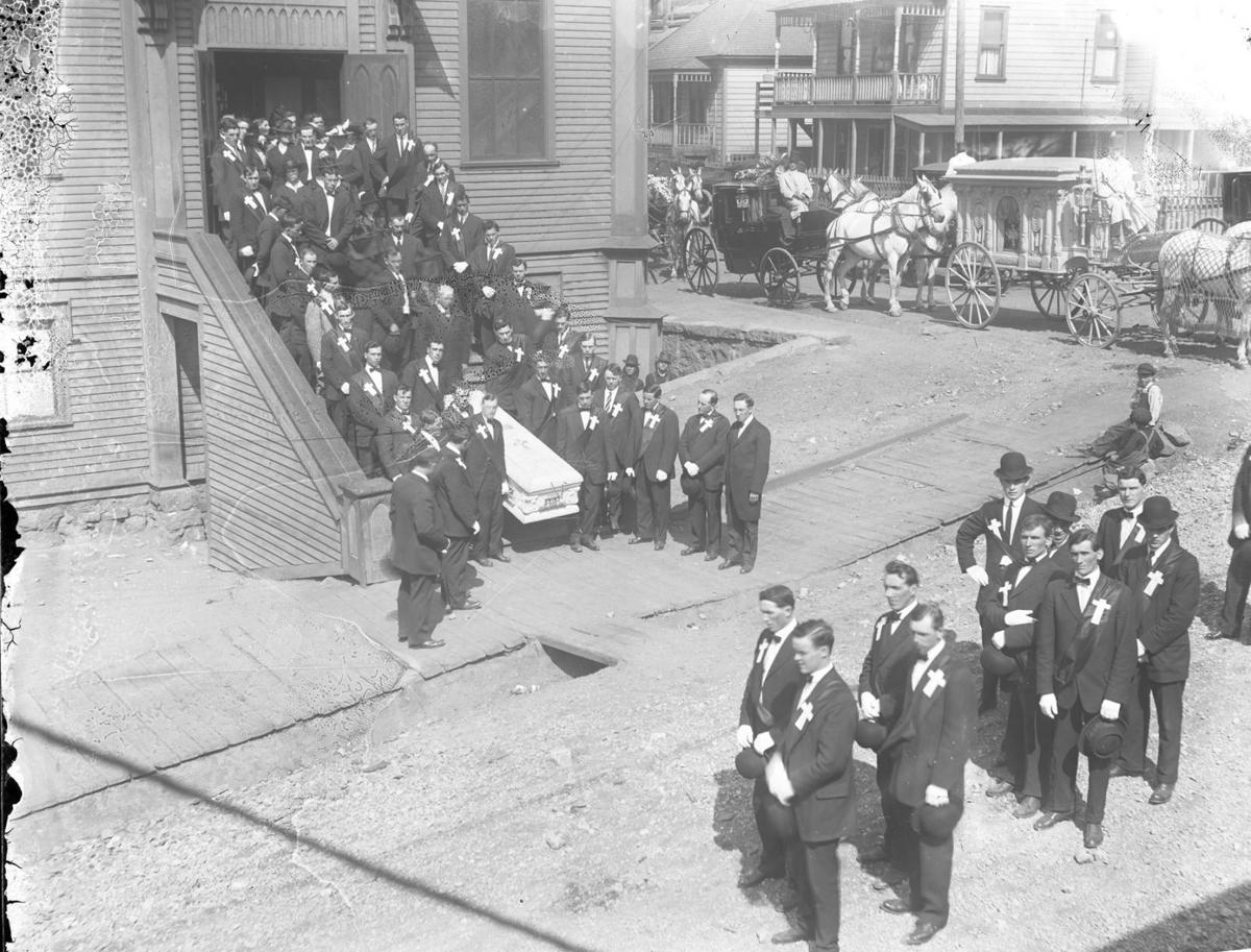Funeral at the original St. Mary's Church