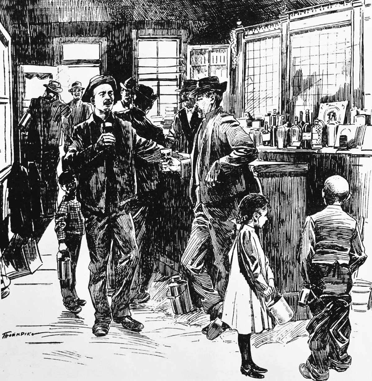 A Typical Butte Scene at the End of the Shift October 1901