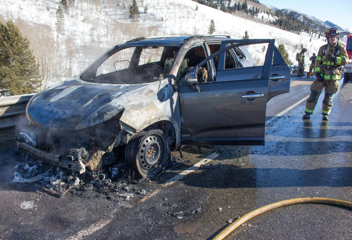Cause of flames that engulfed a car on Interstate 15 under investigation