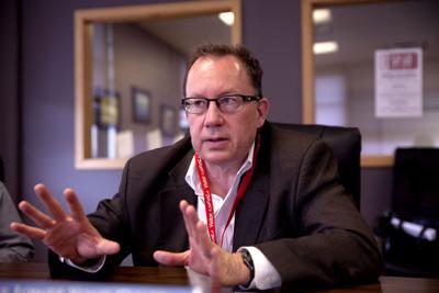 Doug Benevento of EPA meeting at The Montana Standard