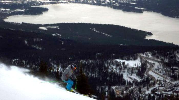 Whitefish Mountain Resort ski skier skiing downhill