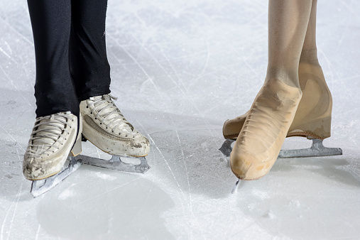 ice skating lessons stockimage