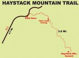 Haystack Mountain trail a challenging hike