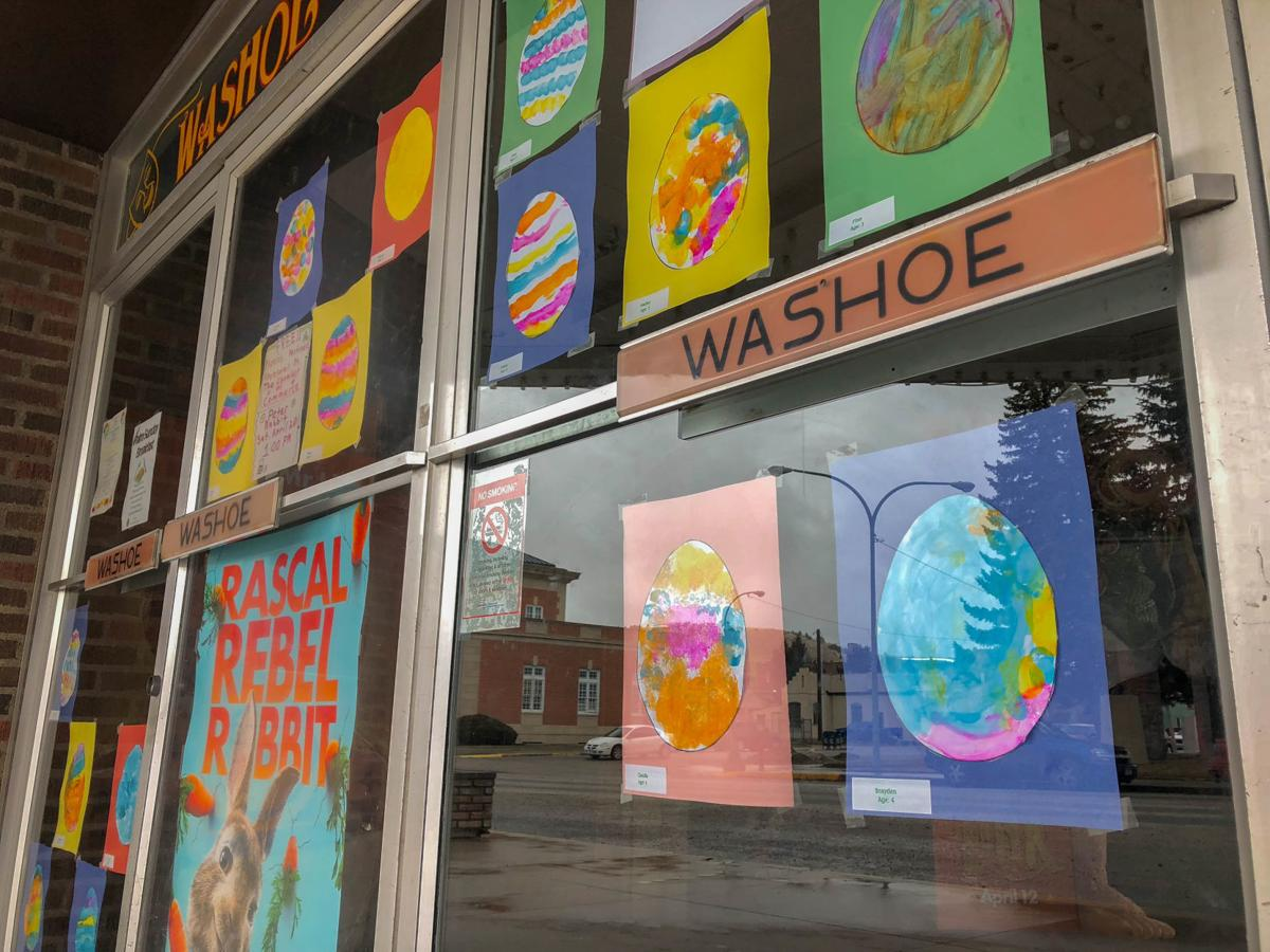 "Student art displayed in Anaconda businesses for ""Week of the Young Child"""