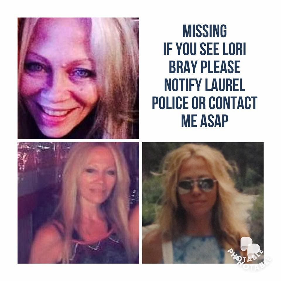 Photographs of missing person Lori Bray