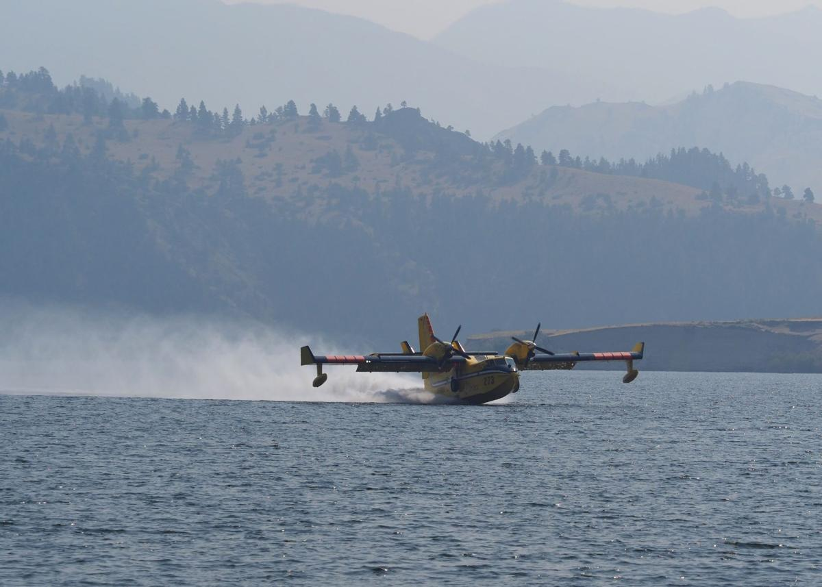 Scooper plane, Holter Reservoir