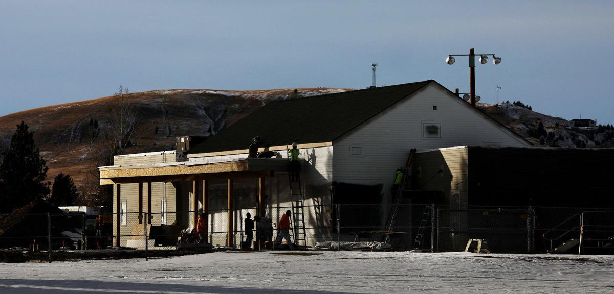 Highland View Golf Course clubhouse under construction