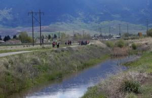 Feature photo: Whittier students clean creek banks as part of annual spring cleaning in Butte