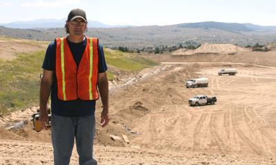 Glen Rafish at landfill