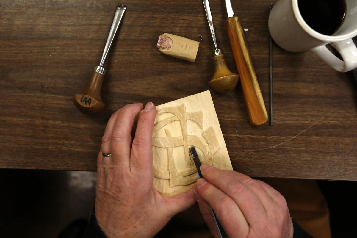 Wood carving at the Belmont Senior Center in Butte