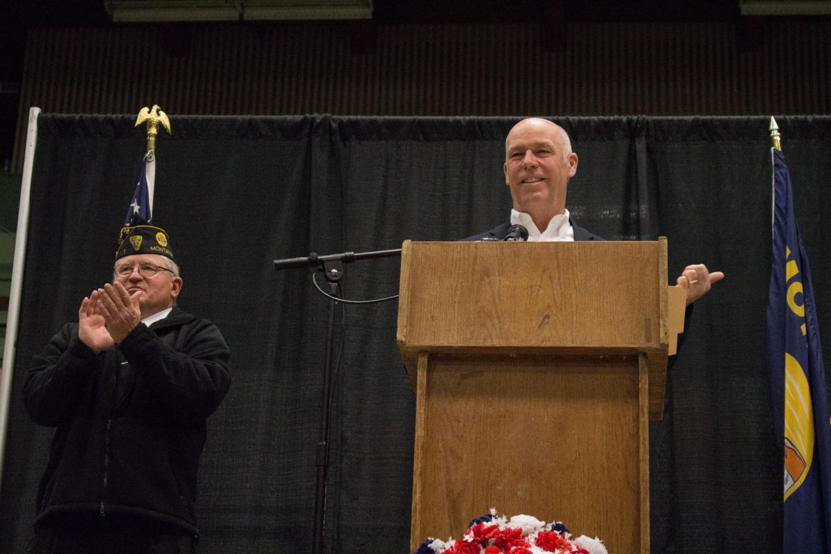 Rep. Greg Gianforte speaks at Butte Memorial Day service