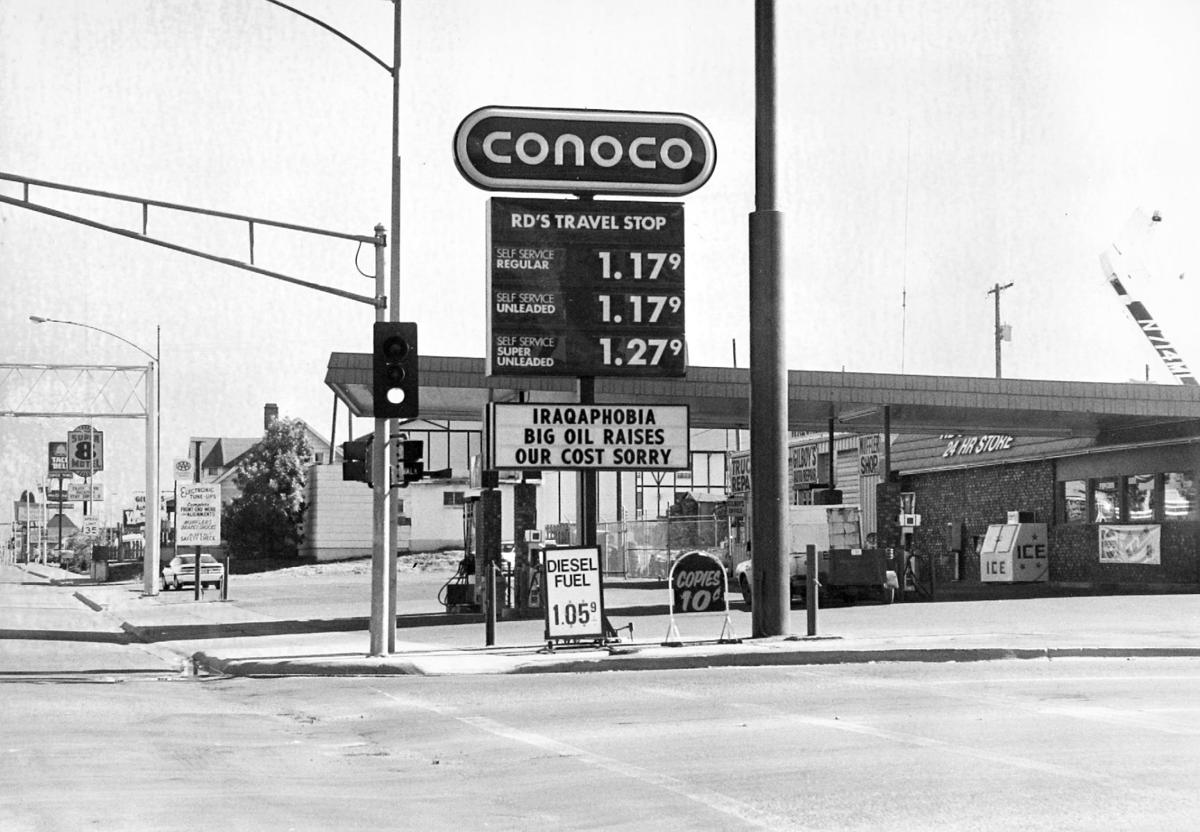 Gas prices in Butte August 1991