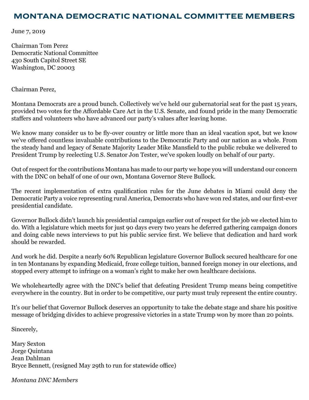 MT DNC Letter