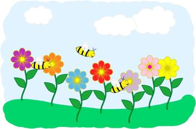 Spring and the bees