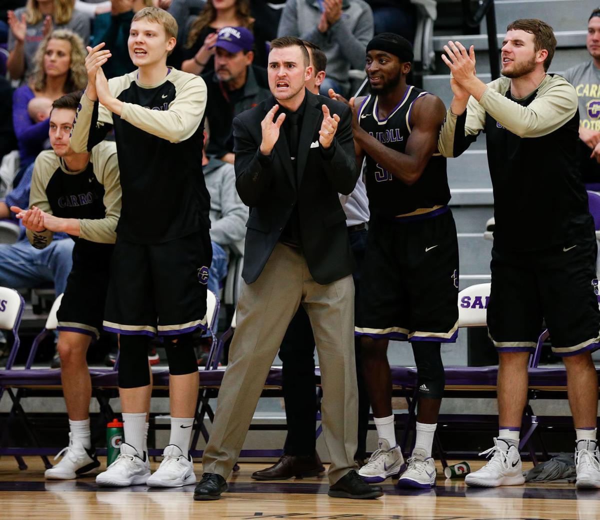Carroll College men's basketball versus Eastern Oregon in Helena