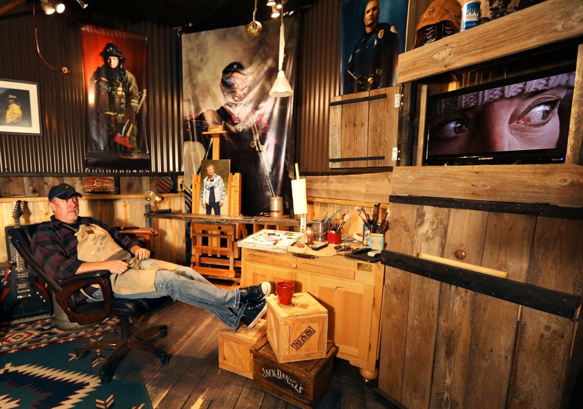 Mike Hamblin in his Walkerville studio
