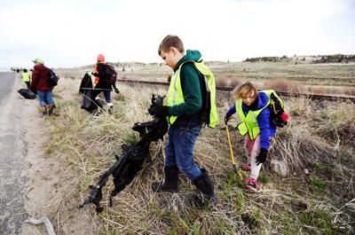 Hundreds of Butte area kids clean up around Blacktail Creek for annual event