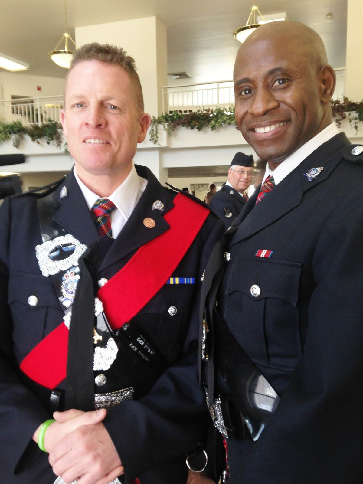 Pipes and Drums of the Edmonton Police Service named