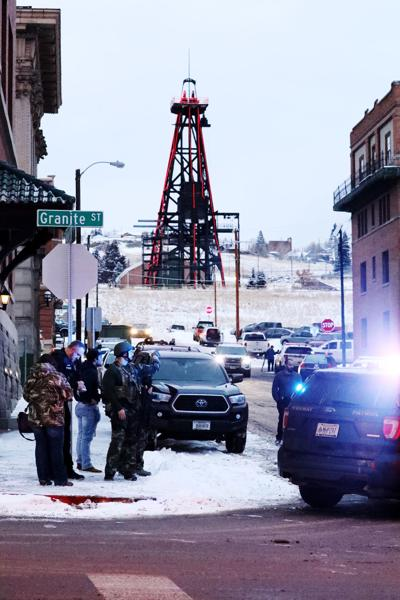 Butte Police respond to a shooter in Uptown Butte