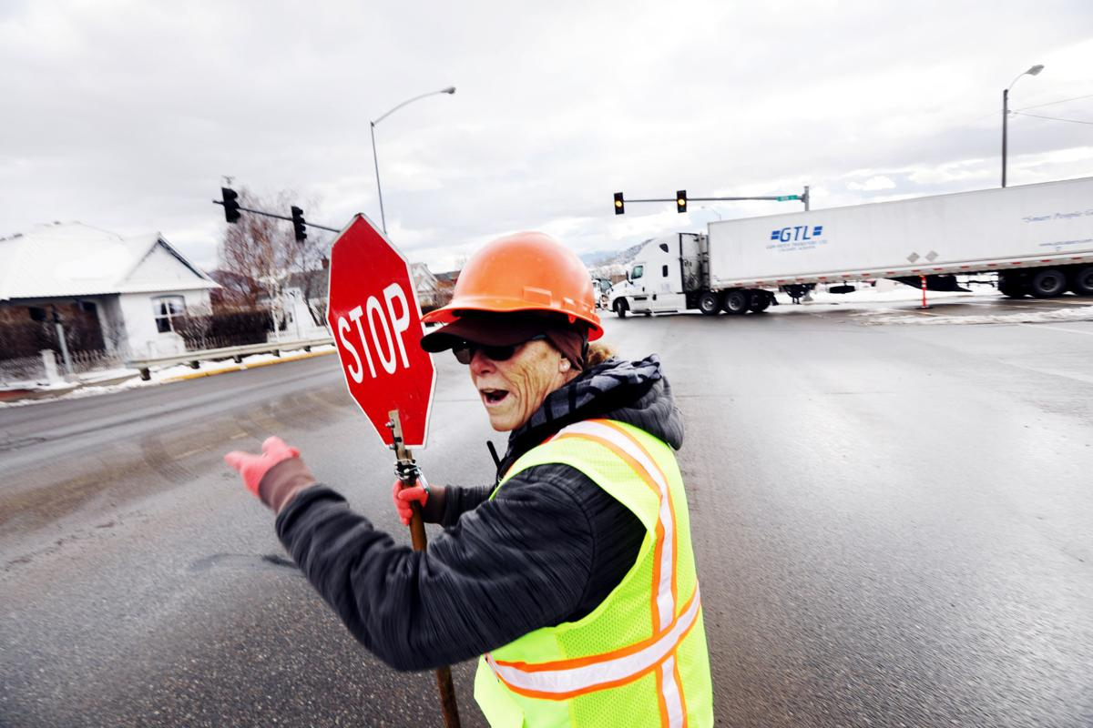 Interstate traffic rerouted through Butte for guardrail maintenance
