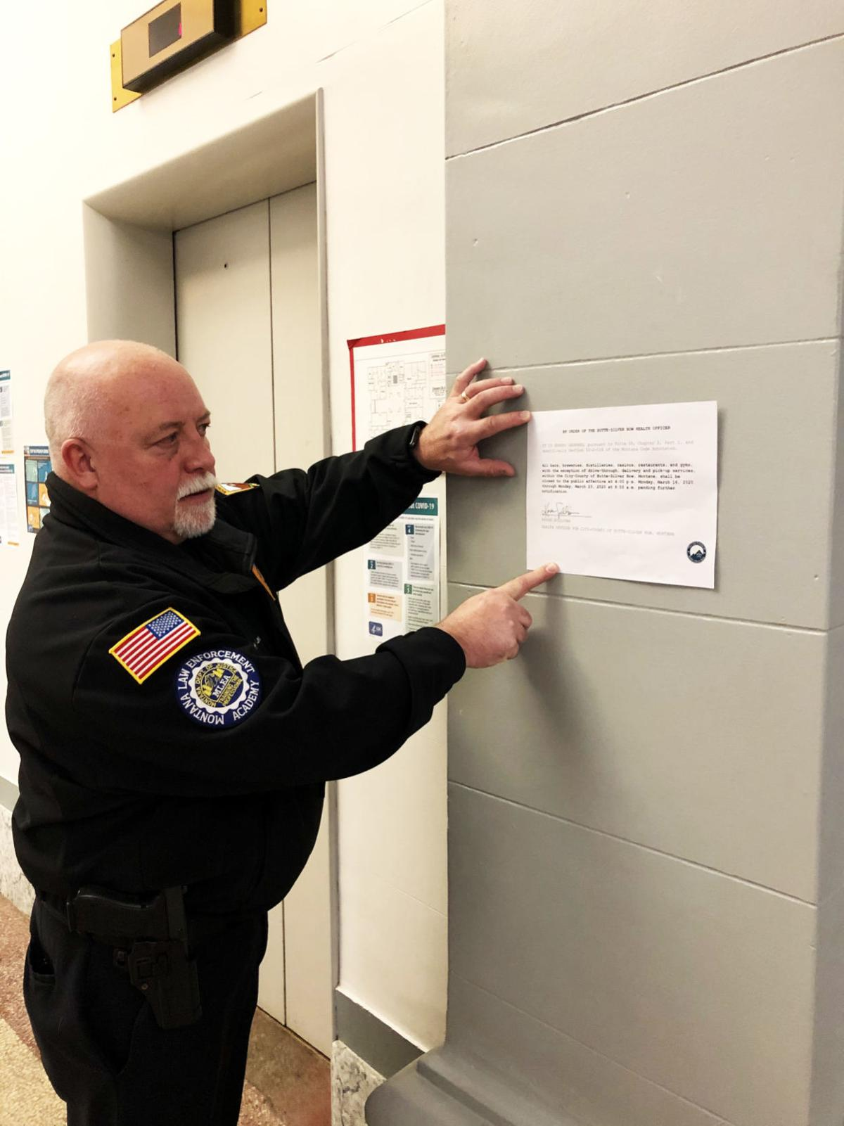 Ed Lester coronavirus notice